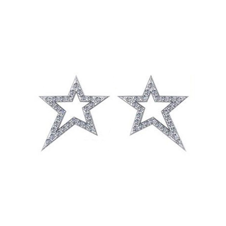 Diamond Shooting Star Earrings