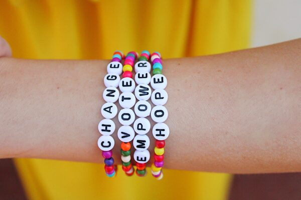 Colorful Howlite Vote Bracelet